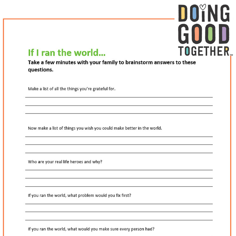 Printable Worksheets create your own printable worksheets : 30-Day Kindness Challenge — Doing Good Together™