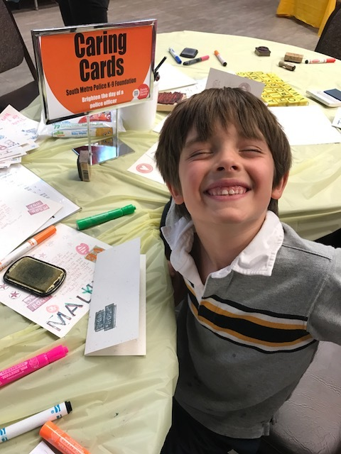DGT Family Service Fairs allow participants to share smiles and kind thoughts through cards.