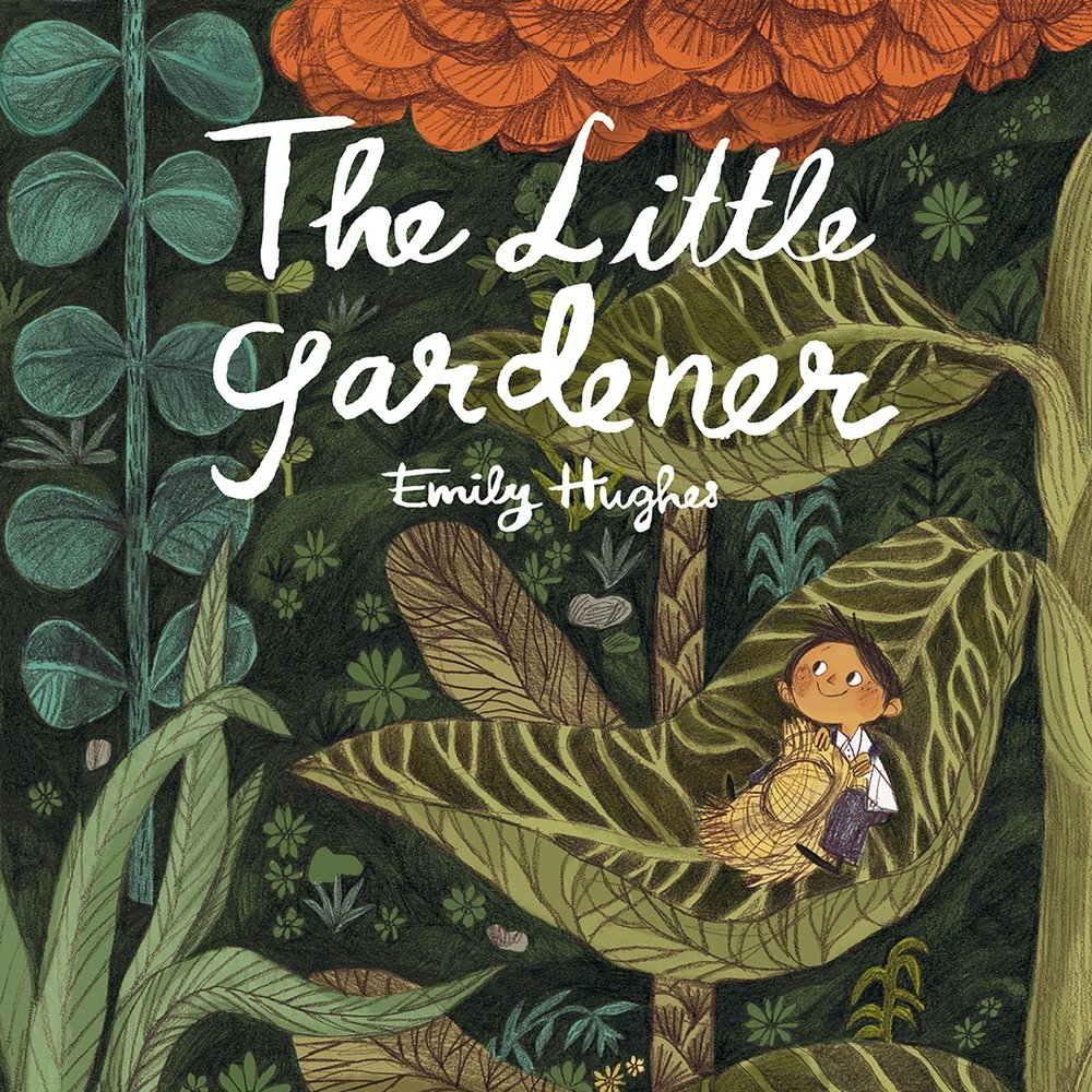 The Littlest Gardener  by Emily Hughes  is a fairy-tale-style celebration of persistence, team work, and tending nature.