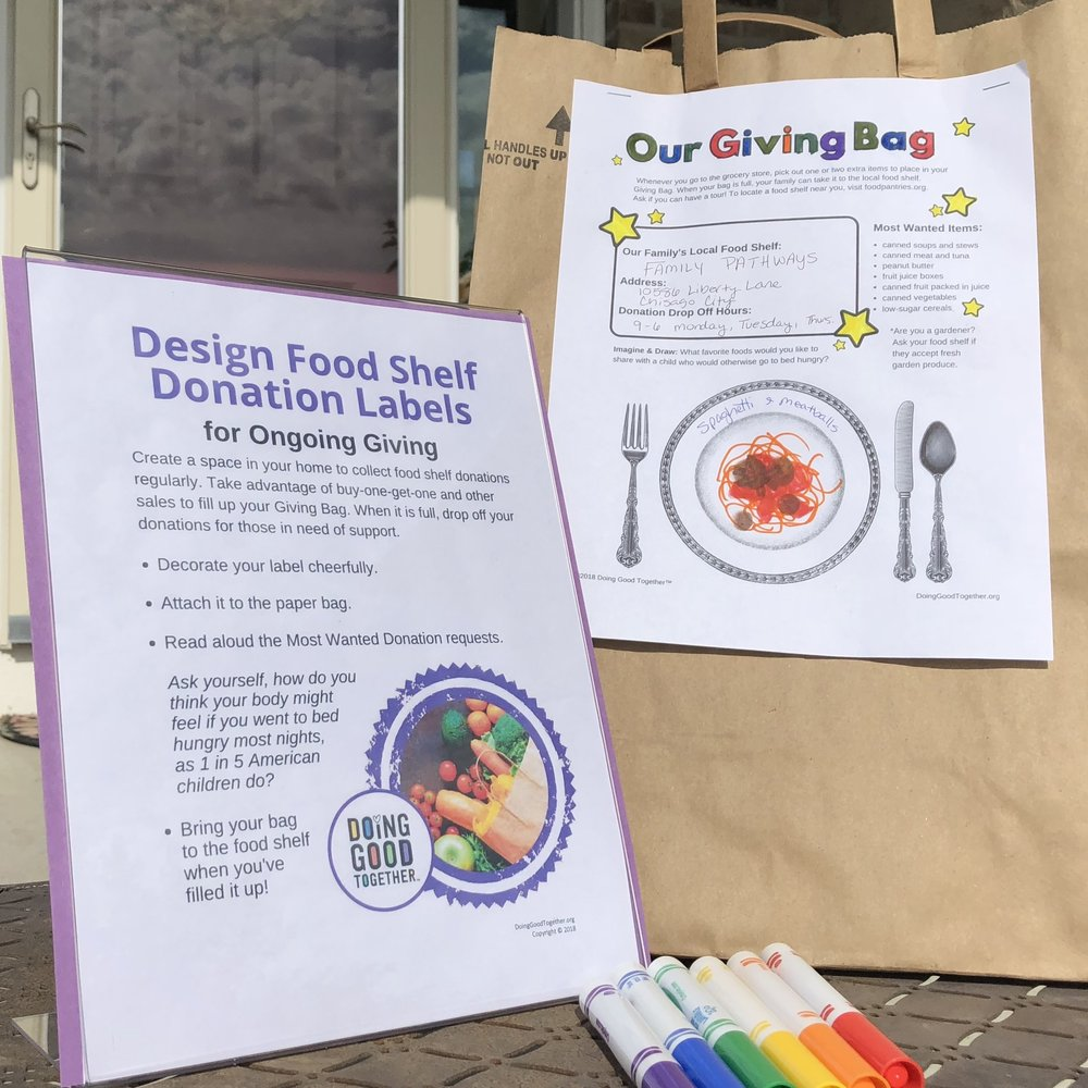 Design Food Shelf Donation Bags for Ongoing Giving
