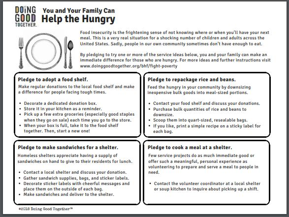 Advocate for Hungry Printable