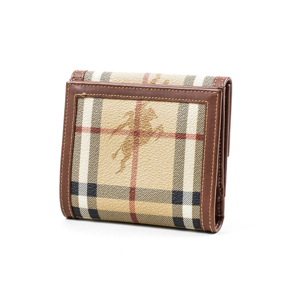 077_Burberry Brown Multicolor Coated Canvas Leather Bifold Wallet.jpg