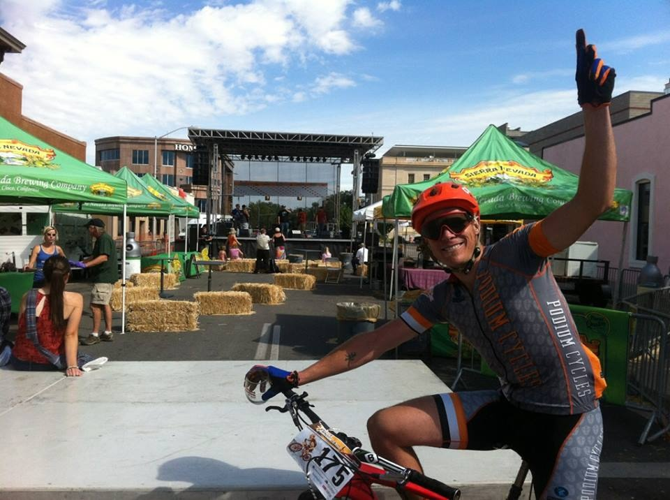 """This picture was taken by some random GJ local right after the race that asked if I wanted my picture taken and texted to me. """"As a matter of fact, yes I do."""""""