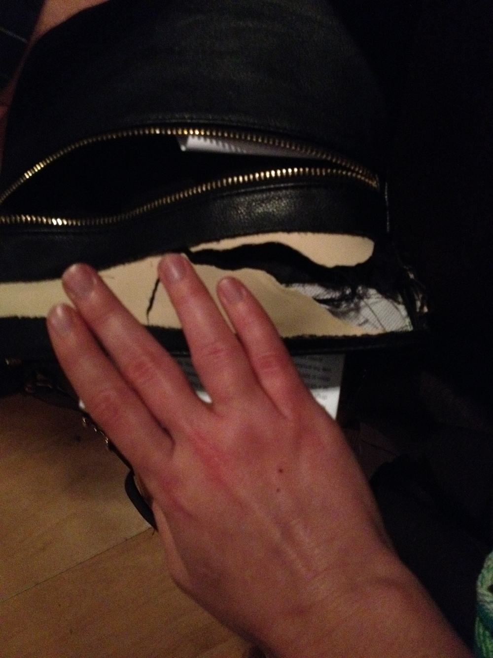 Purse. Hand. Breckon's floor. It looked far, far worse the next day.