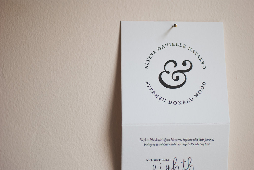 alyssa & stephen - Letterpressed, accordion-folded wedding invitations inspired by the Philadelphia couple's love story