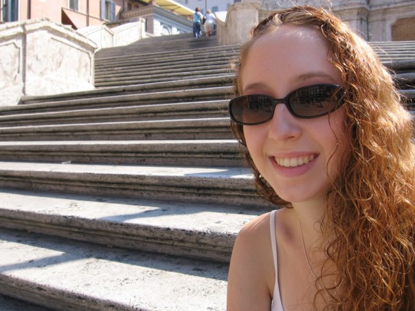 16 year old me on the Spanish Steps in Rome