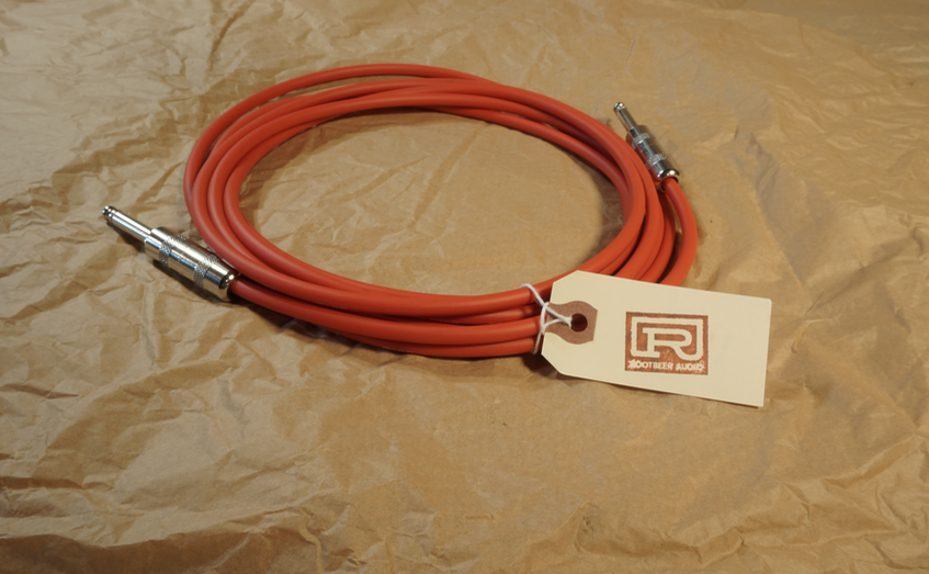 Red cable with straight plugs