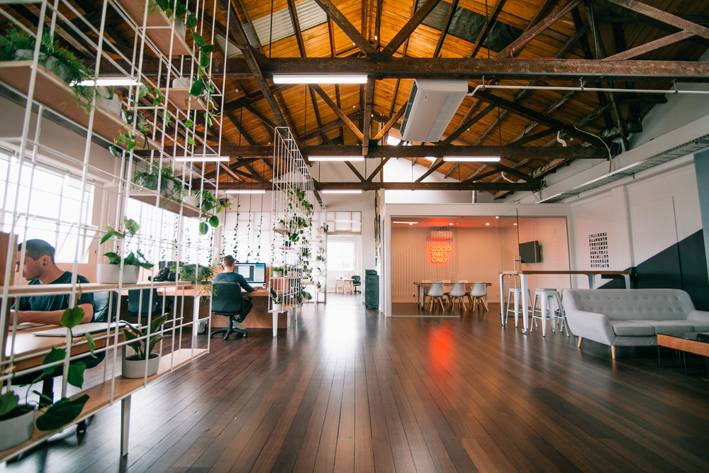 Open, light workplace design // Client: Motion Sickness