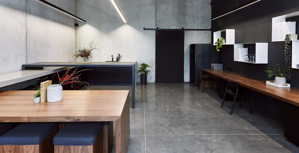 Honest materials and flexible work stations // Client: New Shoots