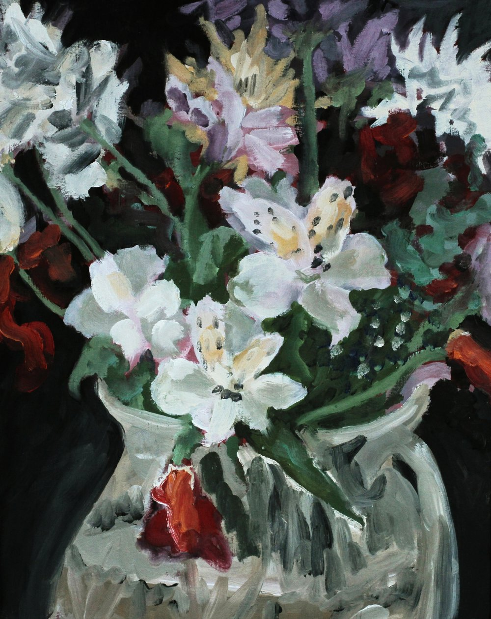 Flowers in Vase  Oil on canvas panel. 16 x 20 in. 2013