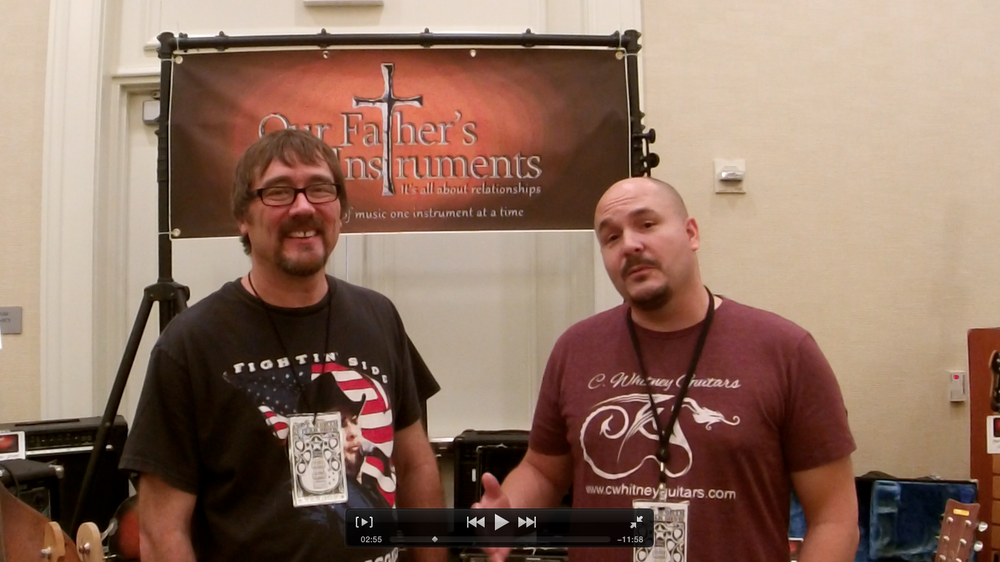 Corey W. with David Adams of Our Fathers Instruments.