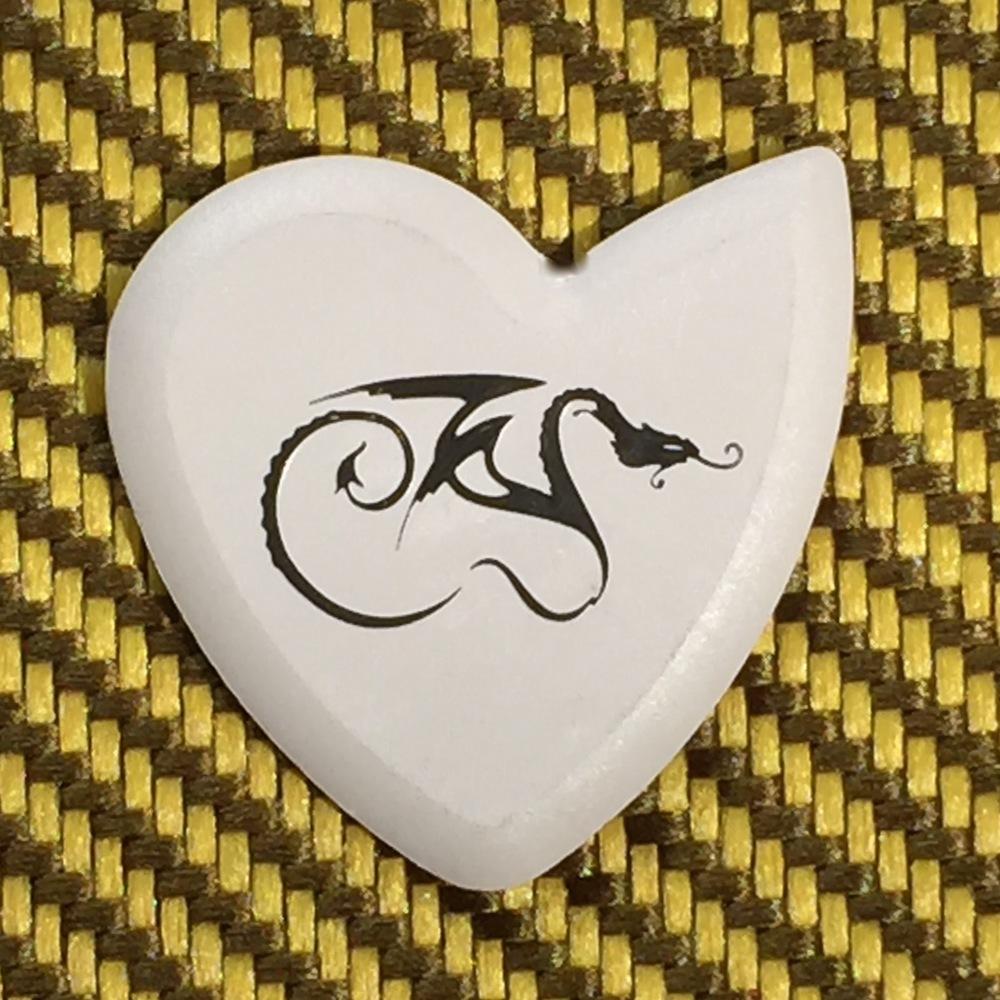 Bone White Faux Dragon's Heart
