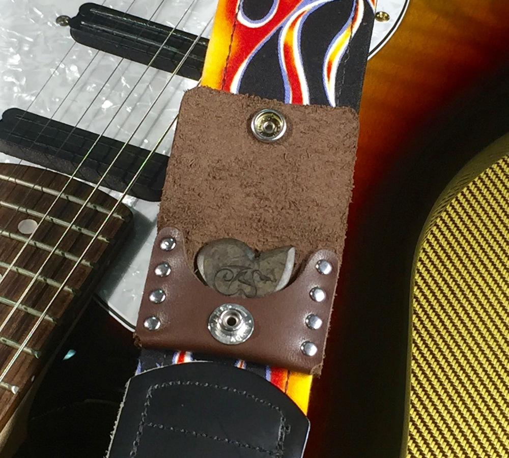 Strap Mounted Pick Holder front open