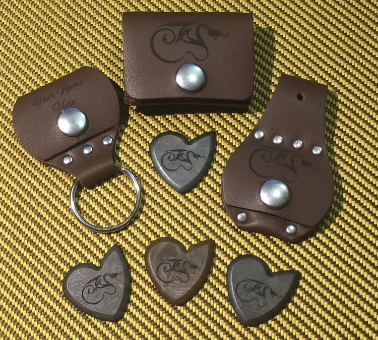 Premium Dragon's Heart Guitar Pick and Pick Holder Combo