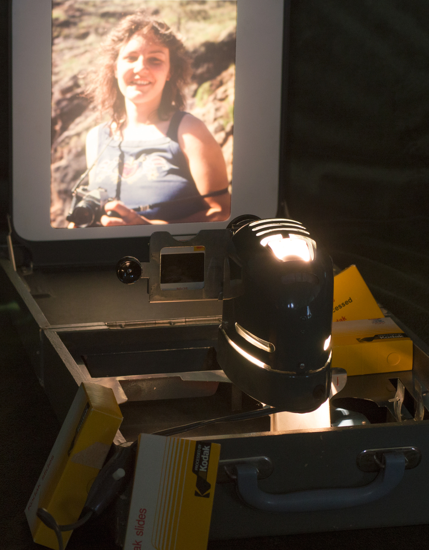 Fuji Film Birdie Projector with a 1978 Lori    Nikon D3200 • Nikon 55-200mm lens • 70mm • F/8 • 1/4s • ISO 400