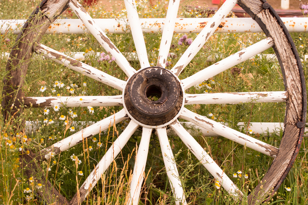 Old Wooden Wagon Wheel    Nikon D3200 • Nikon 55-200mm lens • 55mm • F/5.6 • 1/60s • ISO 400