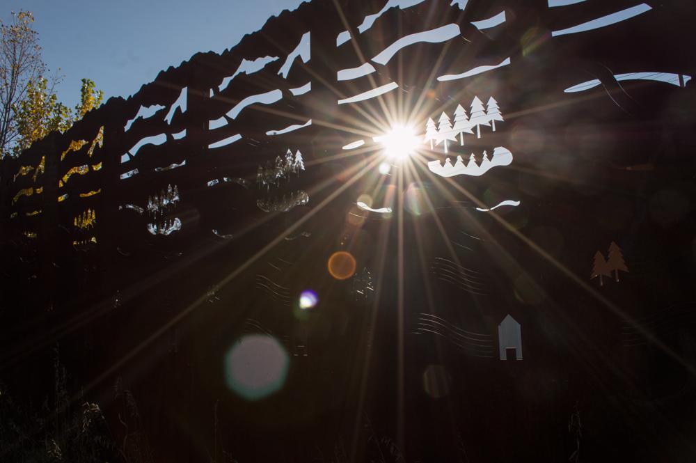 Lens Flare Fence    Nikon D3200 • Nikon 18-55mm lens • 18mm • F/14 • 1/200s • ISO 100