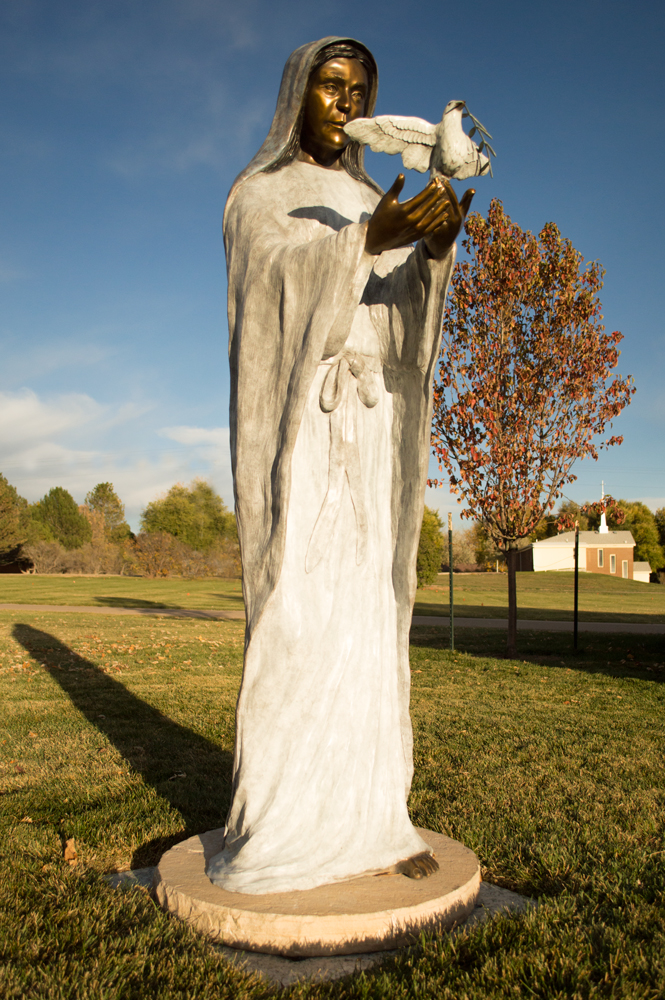 Mary with Dove of Peace    Nikon D3200 • Nikon 18-55mm lens • 20mm • F/4 • 1/1000s • ISO 400
