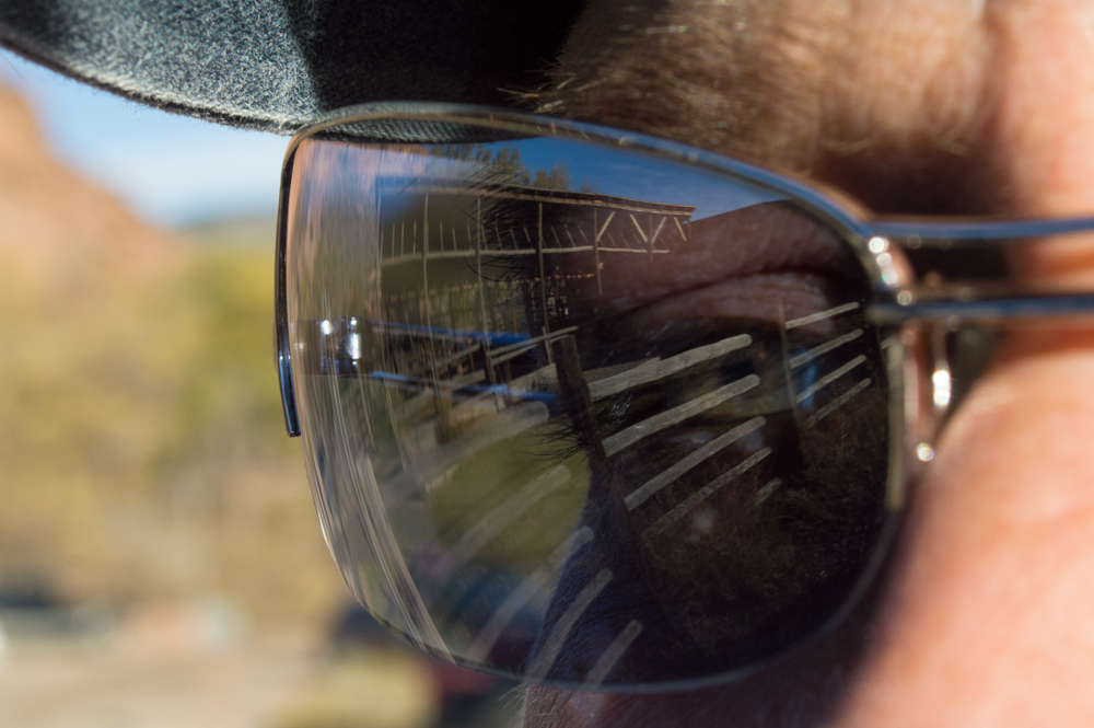 Reflection of the stable at Bobcat Ridge    Nikon D3200 • Nikon 18-55mm lens • 46mm • F/14 • 1/250s • ISO 400