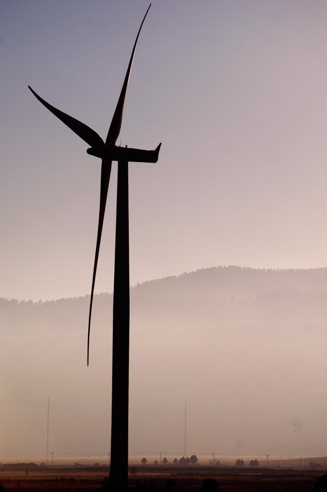Wind Generator Against a Smoggy Horizon    Nikon D3200 • Nikon 55-200mm lens • 200mm • F/9 • 1/1250s • ISO 100