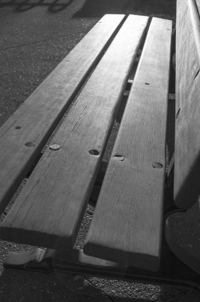 Empty Park Bench    Nikon D3200 • Nikon 18-55mm lens • 30mm • F/4.5 • 1/4000s • ISO 400