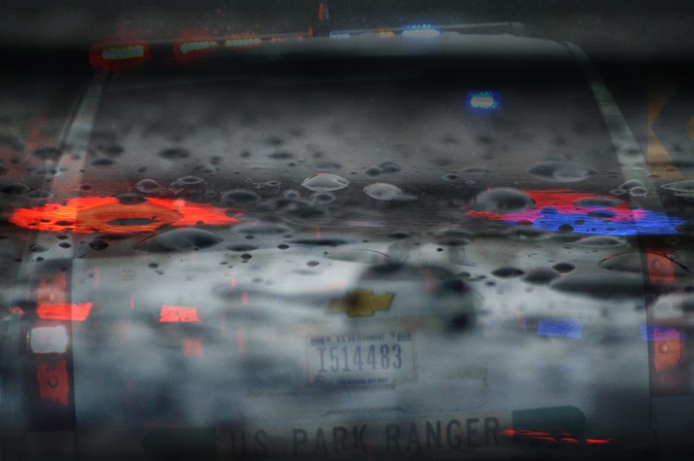 Ranger Lights Reflecting on Hood  Nikon D3200 • Compilation Photo