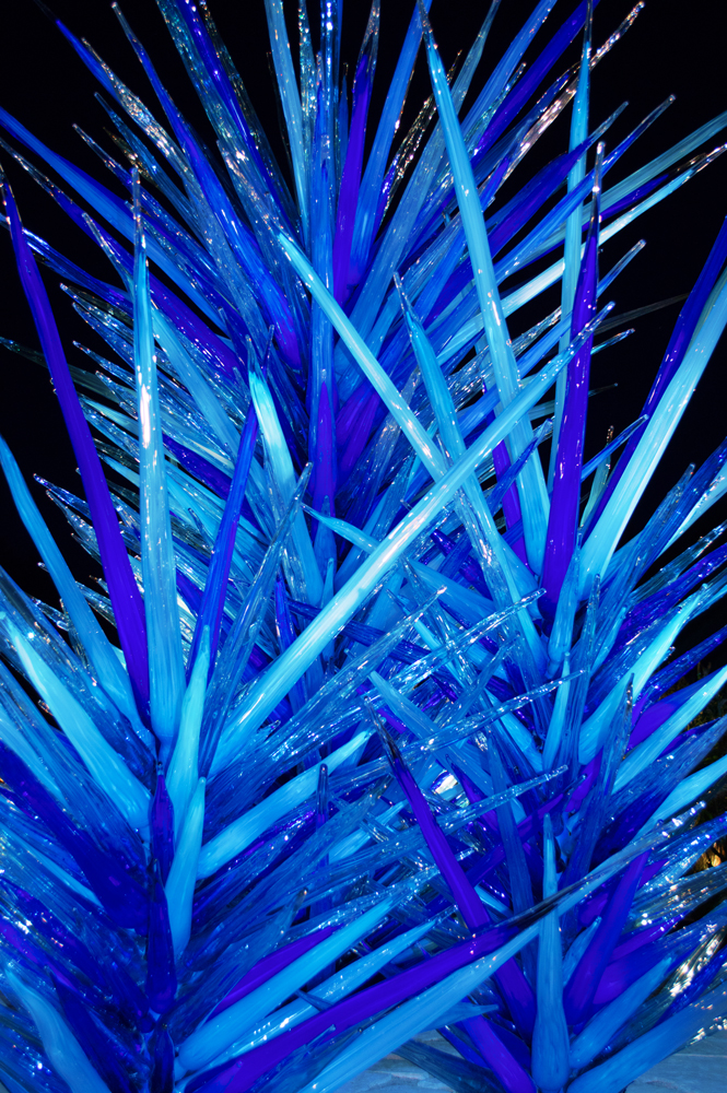 Chihuly Blue Icicle Tower  Nikon D3200 • Nikon 18-55mm lens • 30mm • F/4.5 • 1/60s • ISO 640