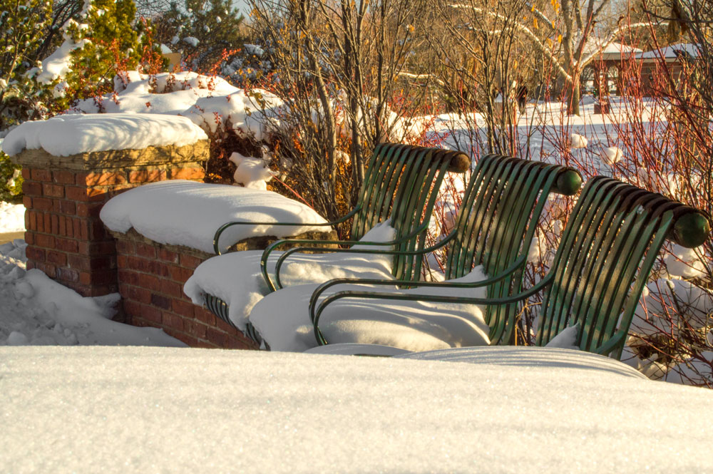 Snowy Seat Cushions    Nikon D3200 • Nikon 18-55mm lens • 36mm • F/29 • 1/60s • ISO 400