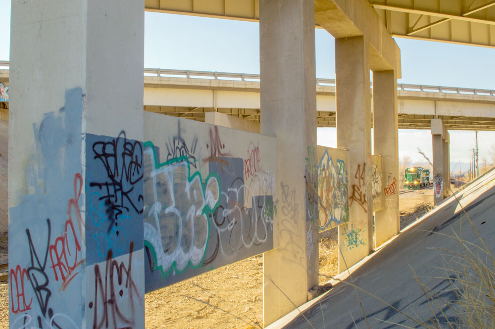 Underpass Graffiti Wall  Nikon D3200 • Nikon 18-55mm lens • 18mm • F/22 • 1/50s • ISO 400
