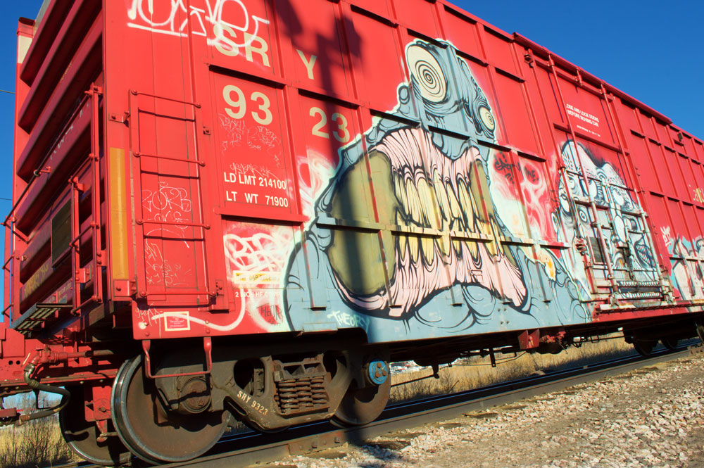 Box Car Monster Hitches a Ride    Nikon D3200 • Nikon 18-55mm lens • 18mm • F/18 • 1/250s • ISO 400