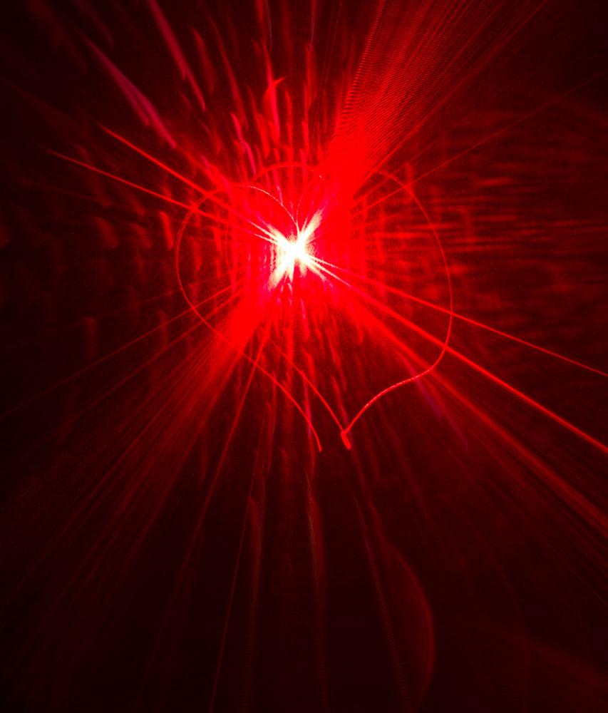 Laser Light Heart    Nikon D3200 • Nikon 18-55mm lens • 35mm • F/5 • 3s • ISO 100
