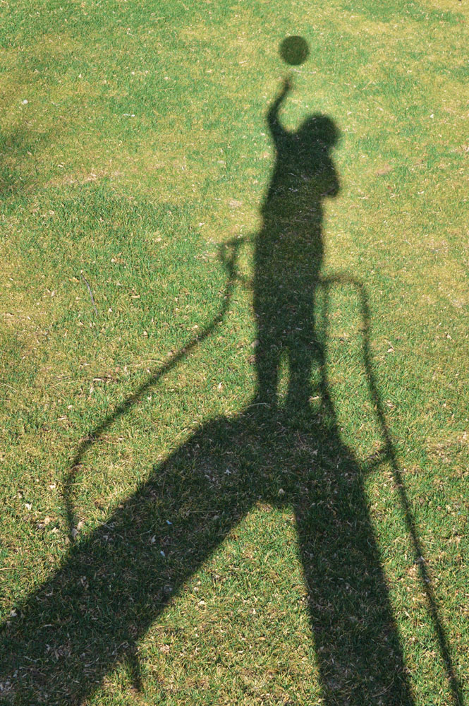 Shadow Selfie on Playground Slide    Nikon D3200 • Nikon 18-55mm lens • 35mm • F/11 • 1/100s • ISO 200