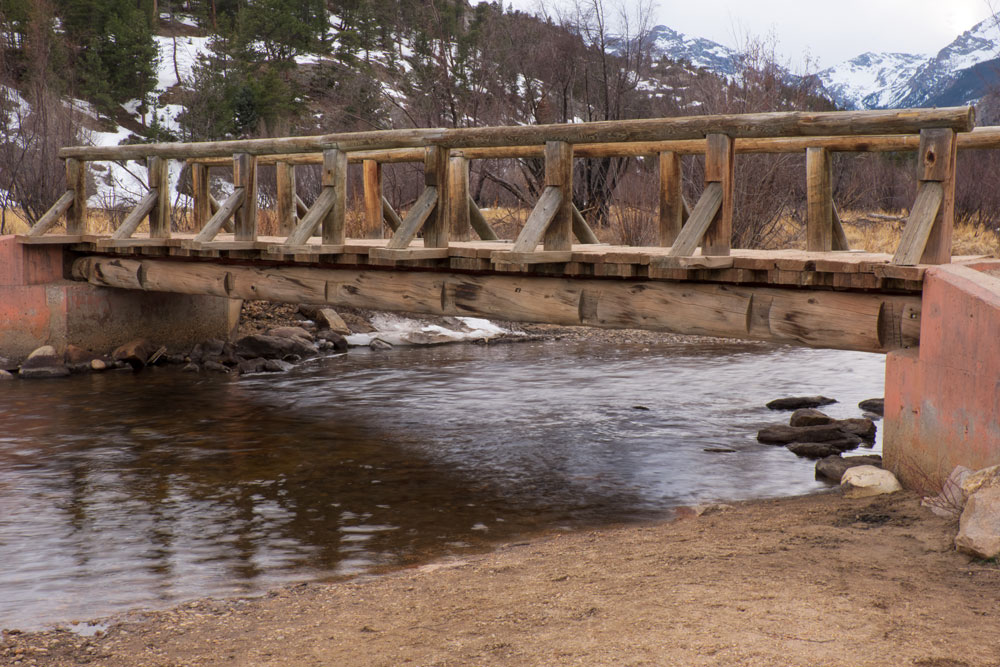 Bridge in Rocky Mountain National Park  Fujifilm X-E2 • Fuji XF18-135mm lens • 27.9mm • F/20 • 1/5s • ISO 200