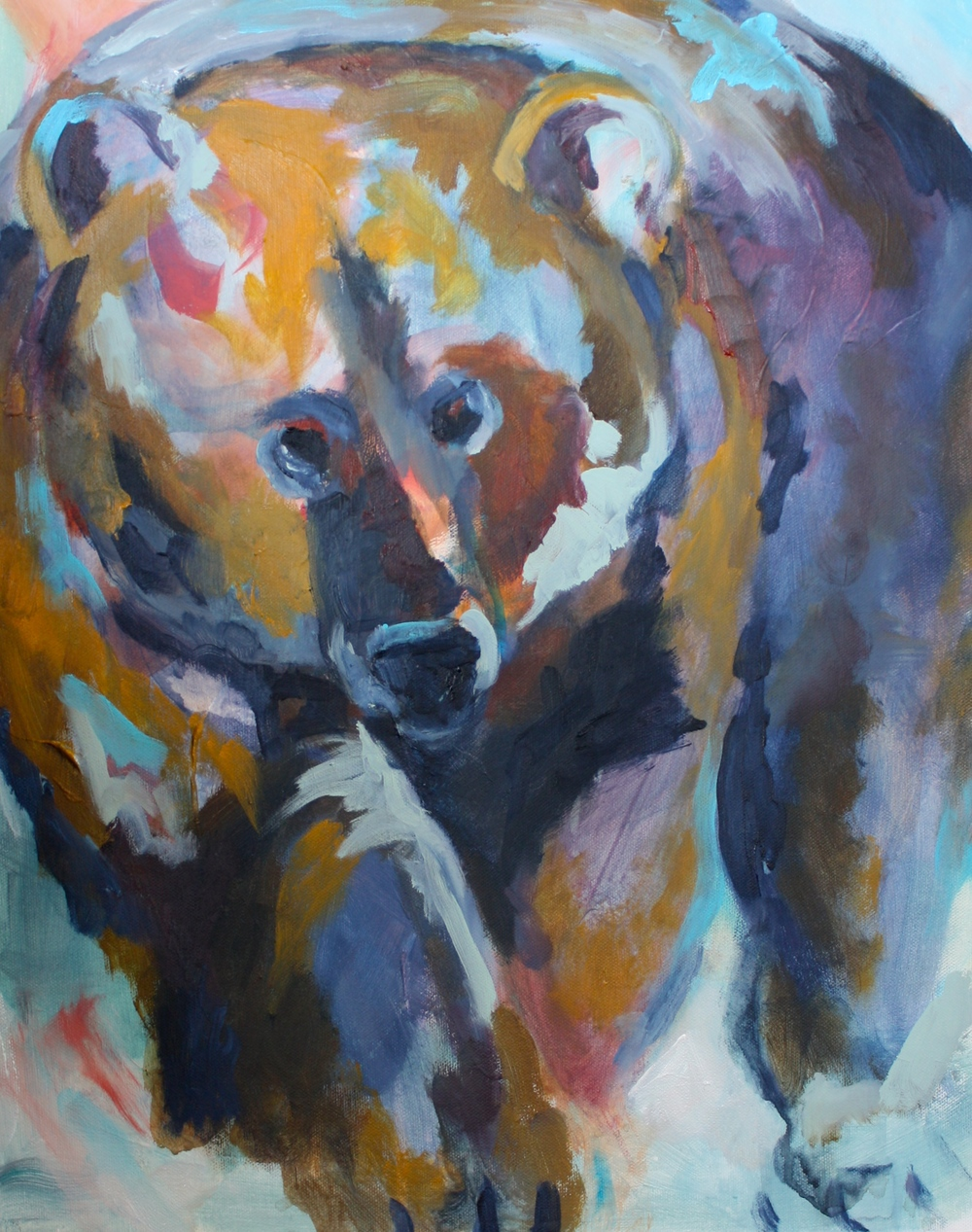 "Side note: This bear is one of my favorite paintings I have ever done, because he came from some wild, untamable place in my heart.  I named him ""Untamable Wild Bill""."