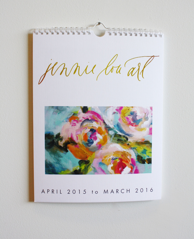 Jennie Lou Art Floral Calendar