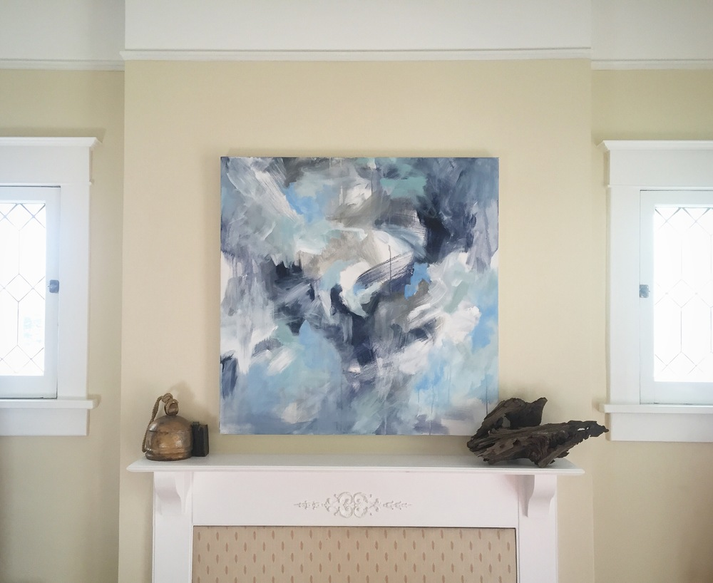 Birds Flying High. 36x36in.