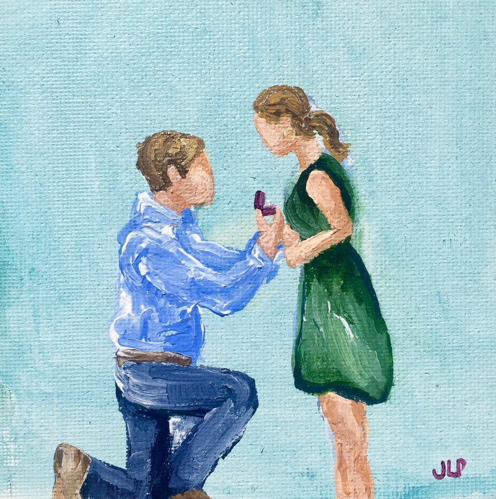 5x5in mini engagement piece