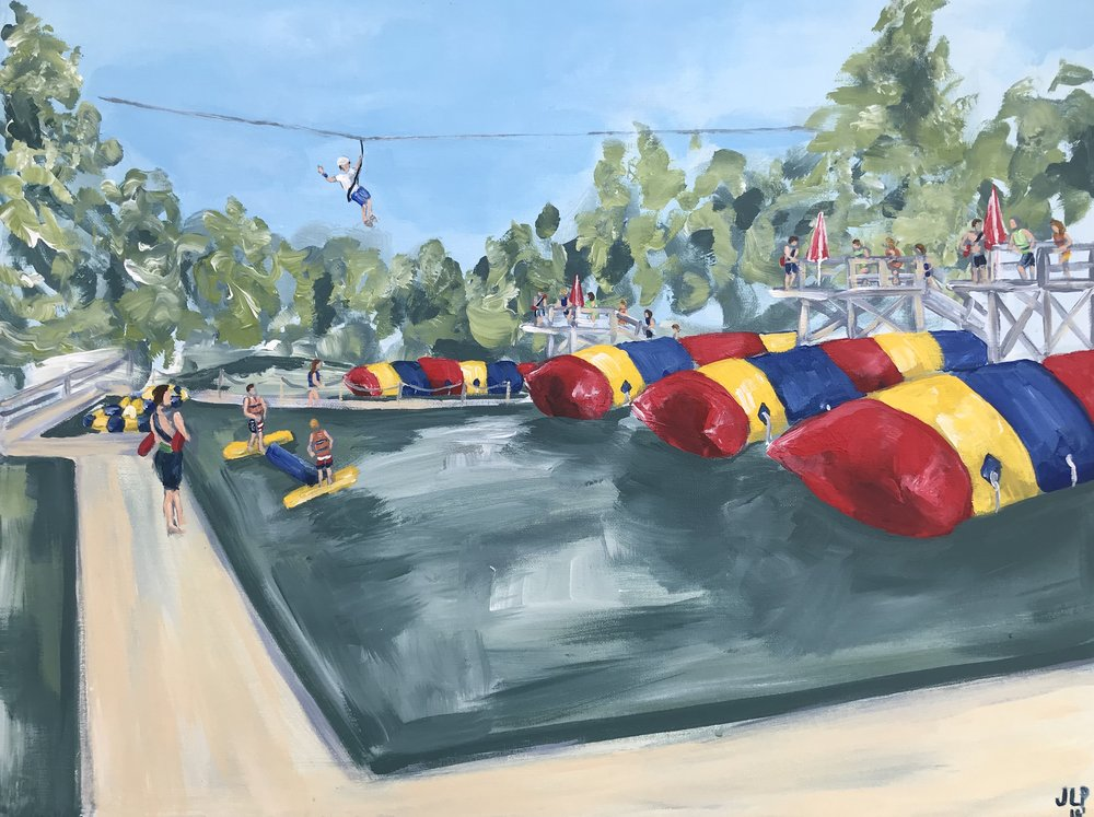 18x24in. Camp Ozark Waterfront