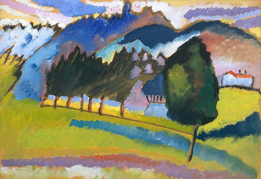 Vasily Kandinsky, Landscape with Rolling Hills, 1910