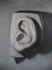 David's Ear. 2013. Oil on canvas.