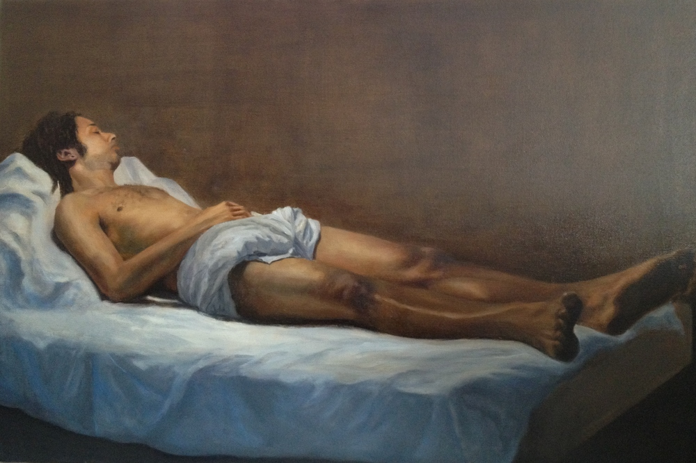 "AJ. 2013. Oil on canvas. 30 x 20"""
