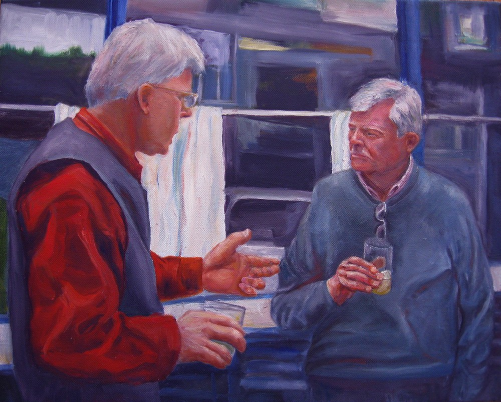 Conversation. 2013. Oil on canvas. 16  x 20""