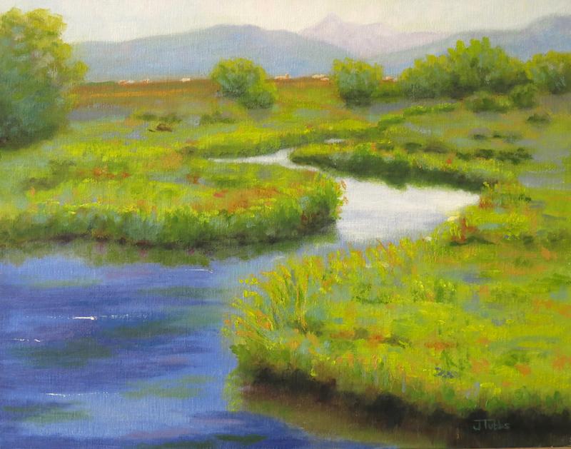 "Teton Valley Creek.2013. Oil on panel. 11 x 14"""
