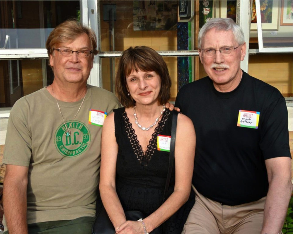 Leon White, Kathy Troyer & Frank Gaffney at the Kenmore Art Show