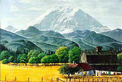 Mt. Rainier: Enumclaw Valley Farm