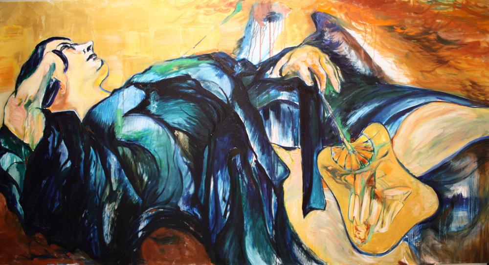 "NB Blue Nocturne. Oil. 2011. 36"" x 60"""