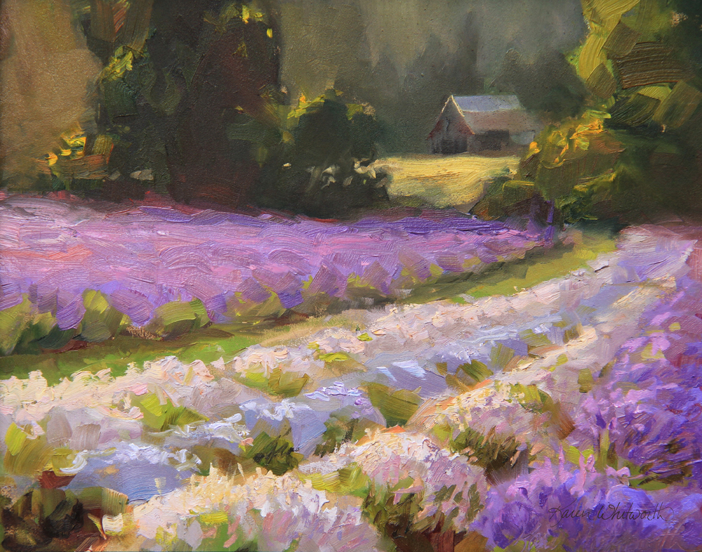 Lavender Sunset. Oil on linen.