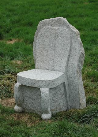 Granite Chair (front). 4.5H x 30D x 30W""