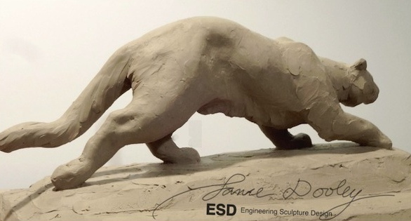 Cougar. Clay in Progress. 32 x 8 x 12""