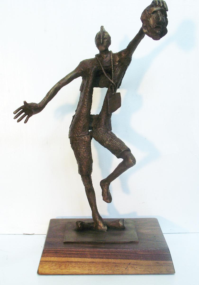 """ACTOR.Bronze.2014. 13.5h x 9w x 6""""d"""